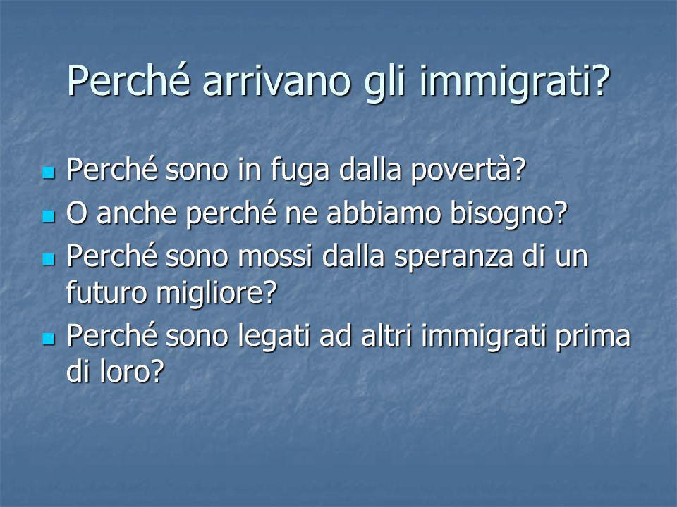 Perché arrivano gli immigrati