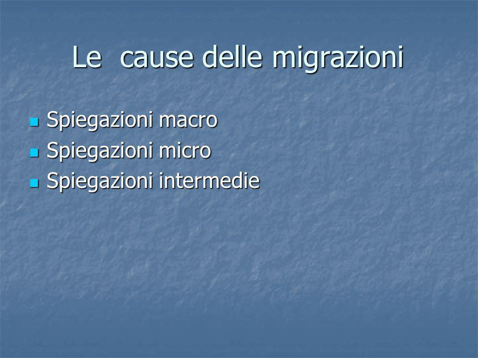 Le cause delle migrazioni