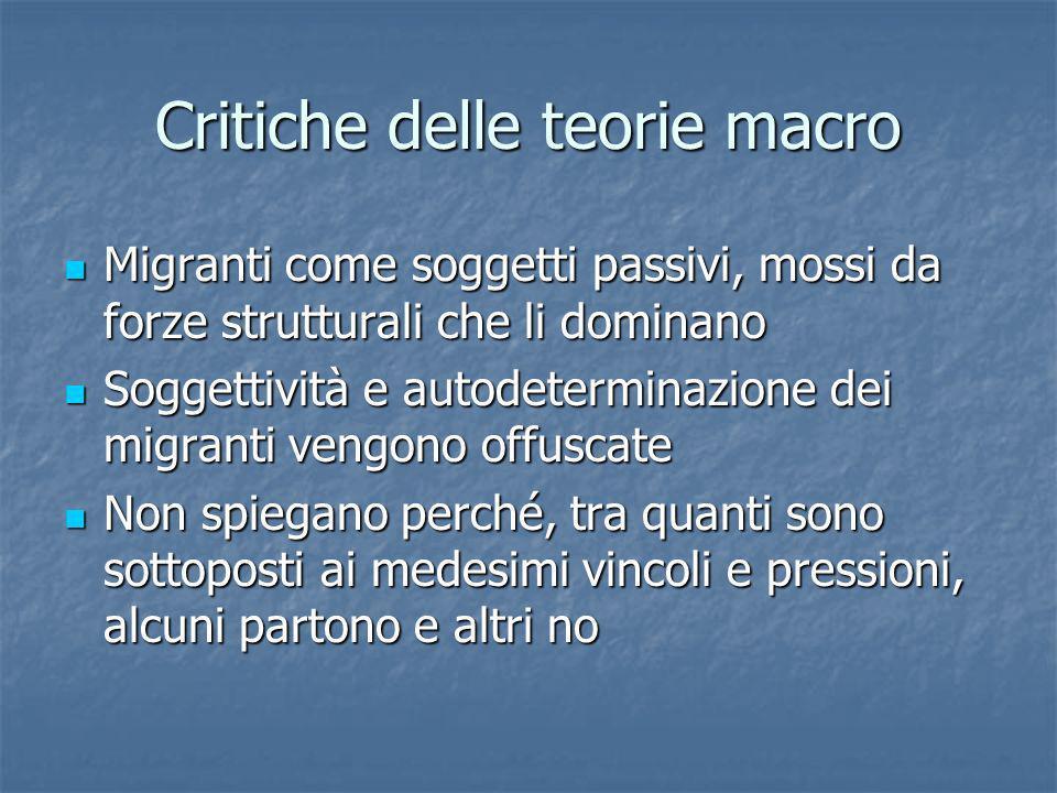 Critiche delle teorie macro