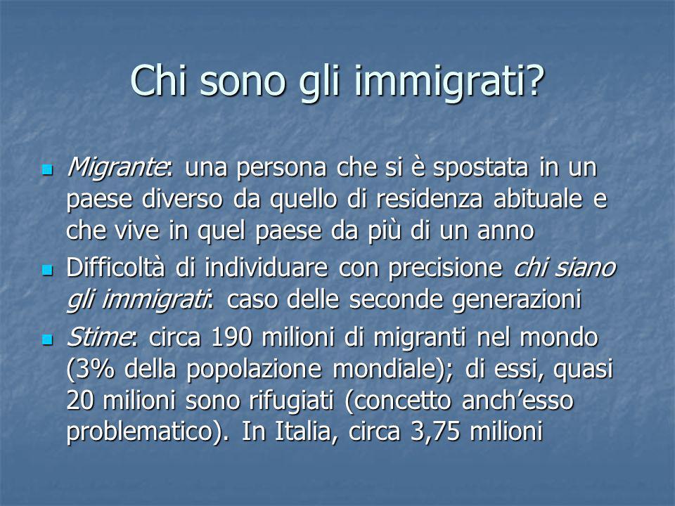 Chi sono gli immigrati