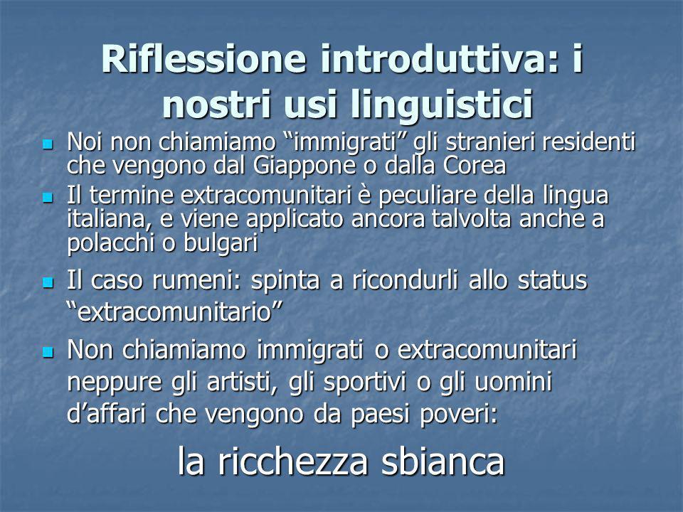Riflessione introduttiva: i nostri usi linguistici