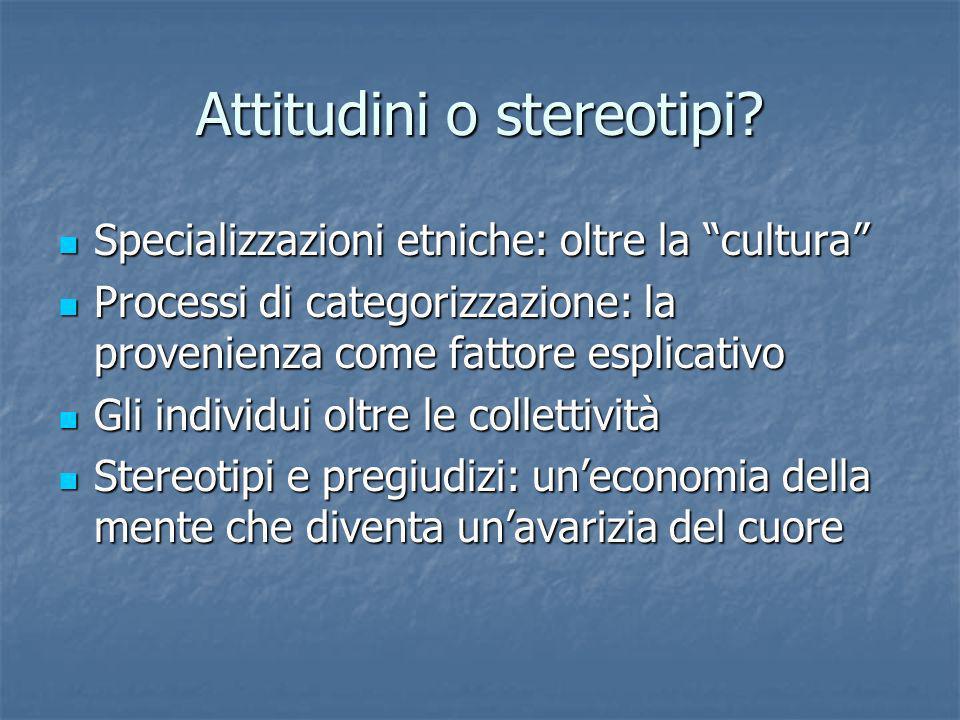 Attitudini o stereotipi