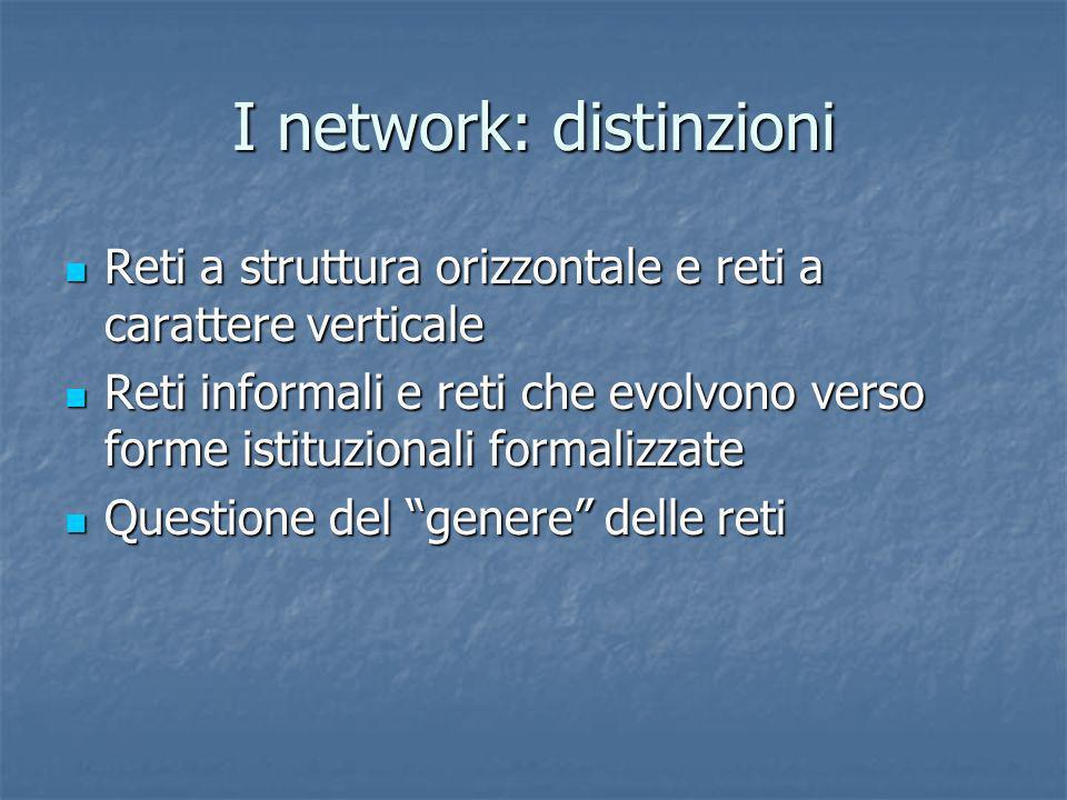 I network: distinzioni