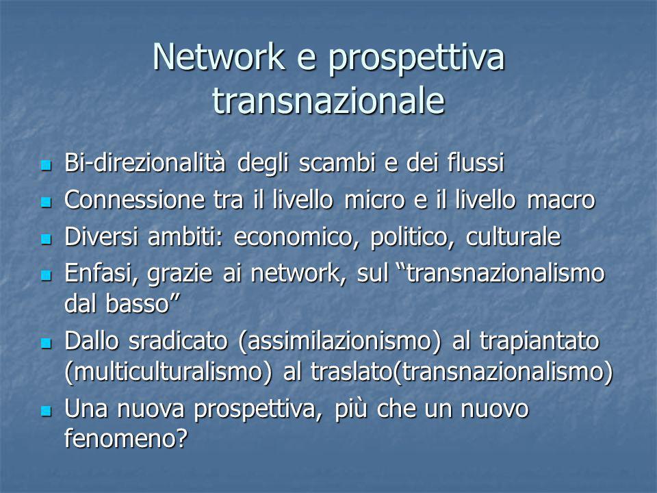 Network e prospettiva transnazionale