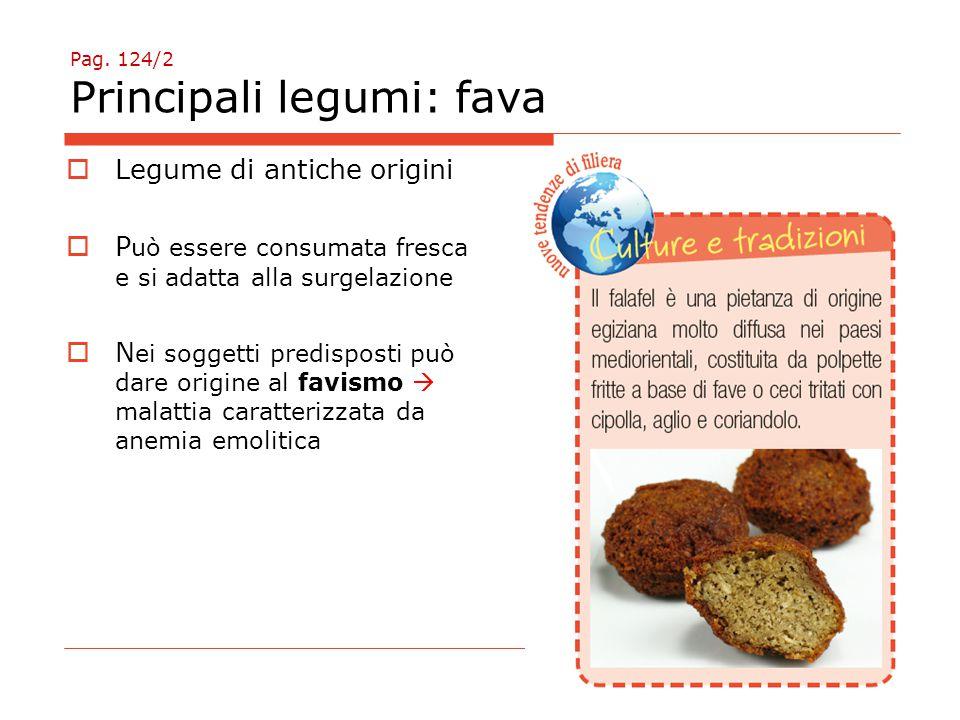 Pag. 124/2 Principali legumi: fava
