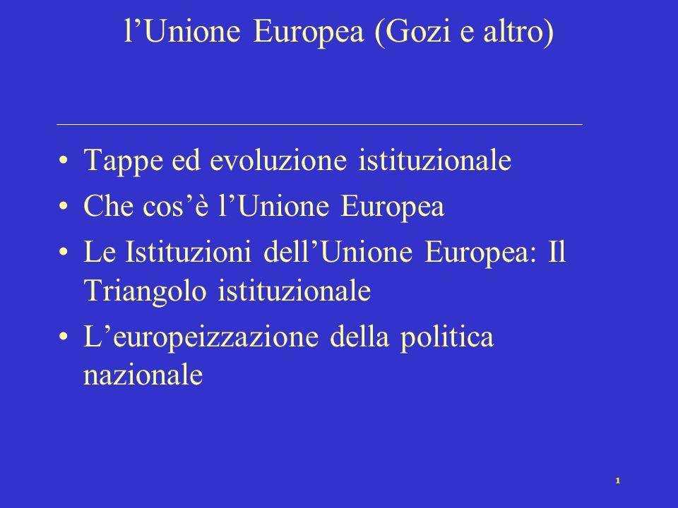 l'Unione Europea (Gozi e altro)