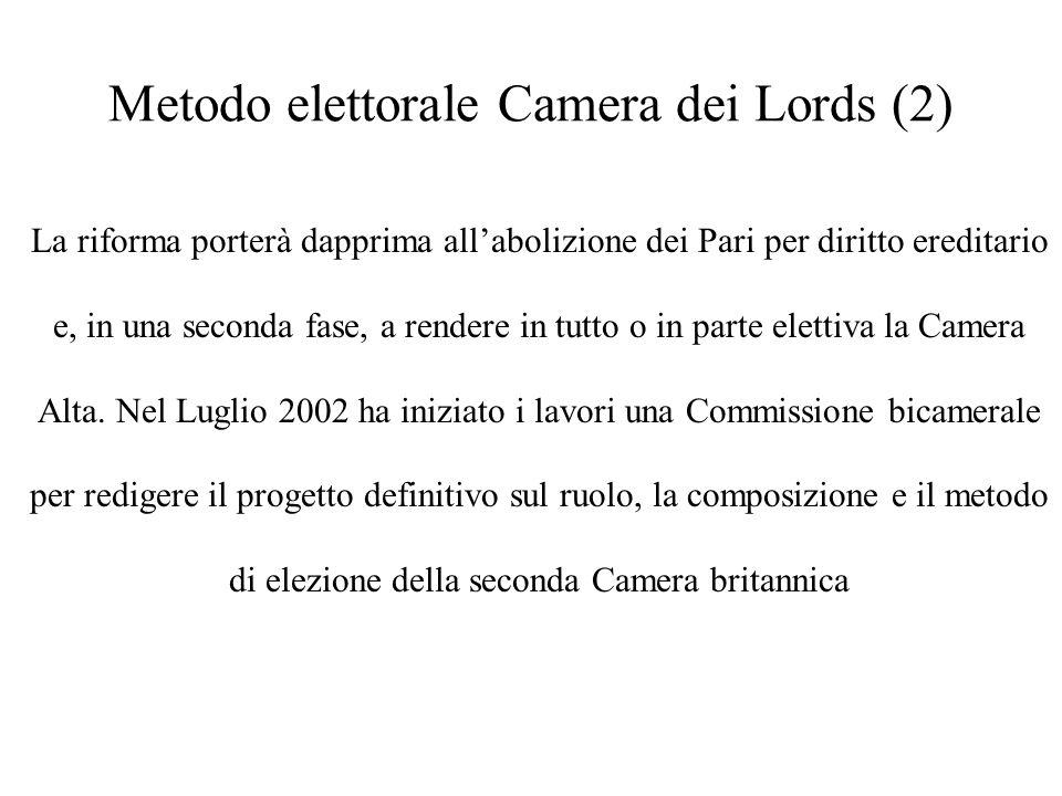 Metodo elettorale Camera dei Lords (2)