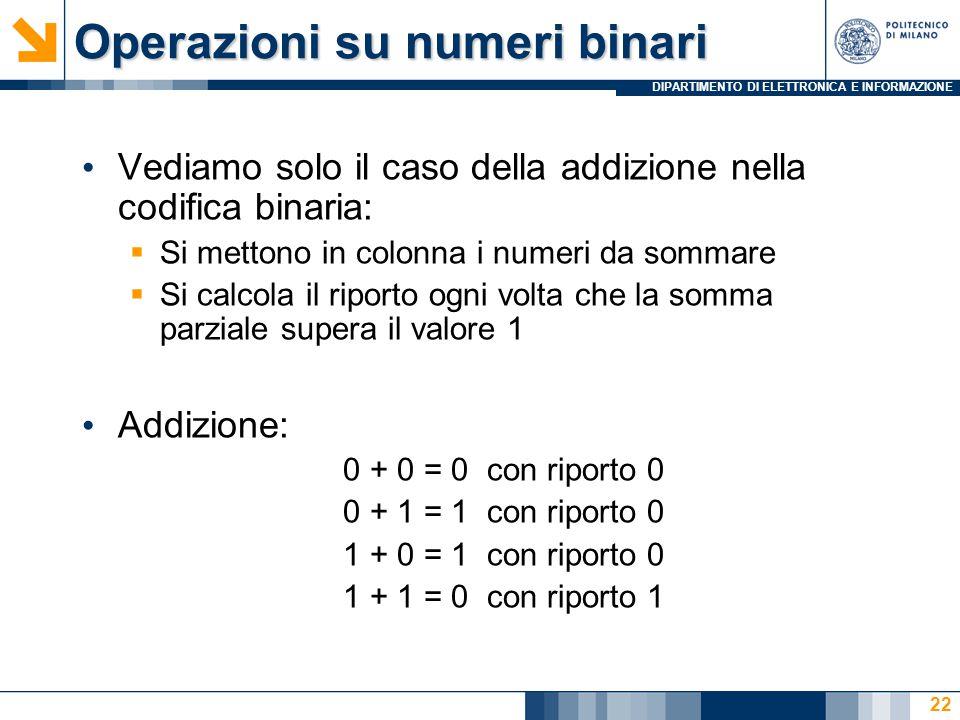 Operazioni su numeri binari