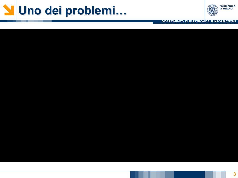 Uno dei problemi…