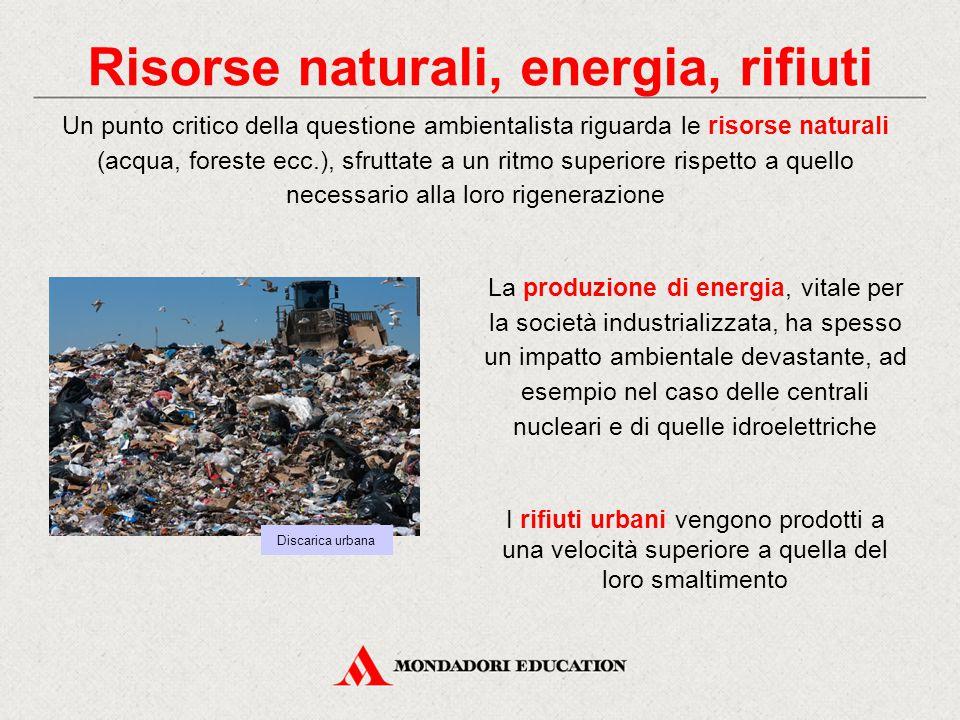 Risorse naturali, energia, rifiuti