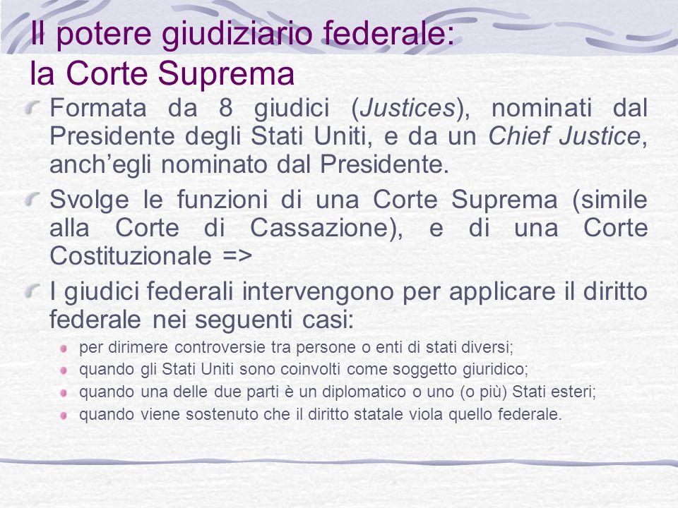 Il potere giudiziario federale: la Corte Suprema