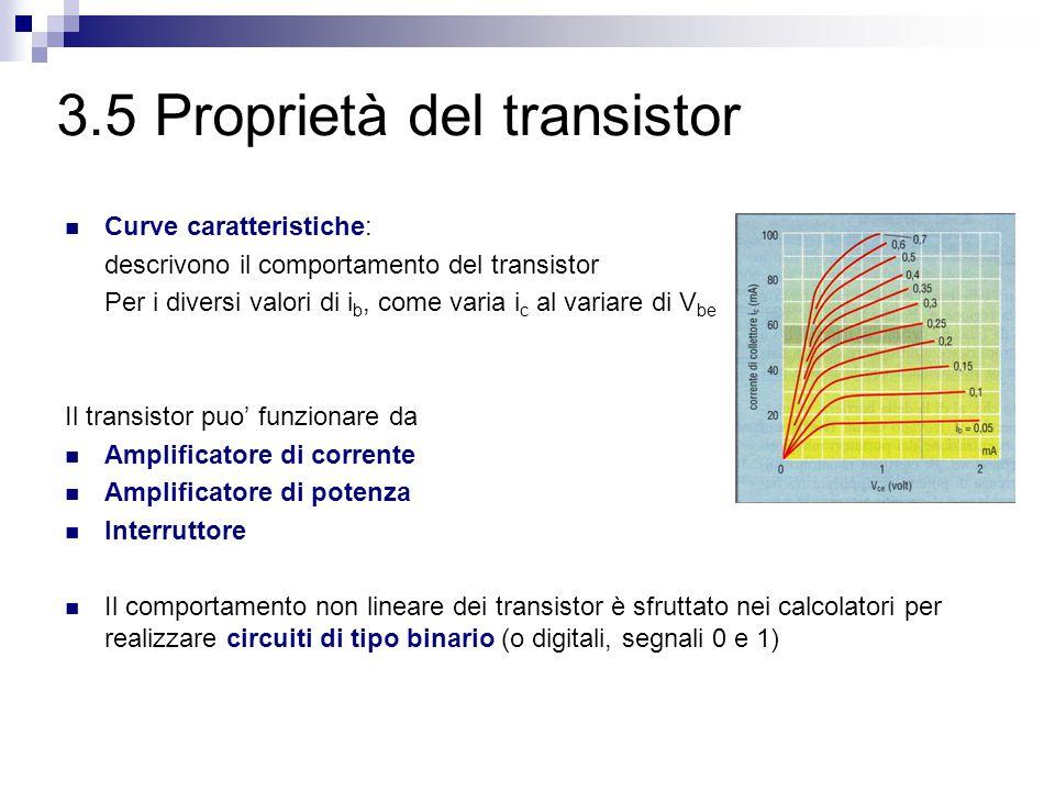 3.5 Proprietà del transistor