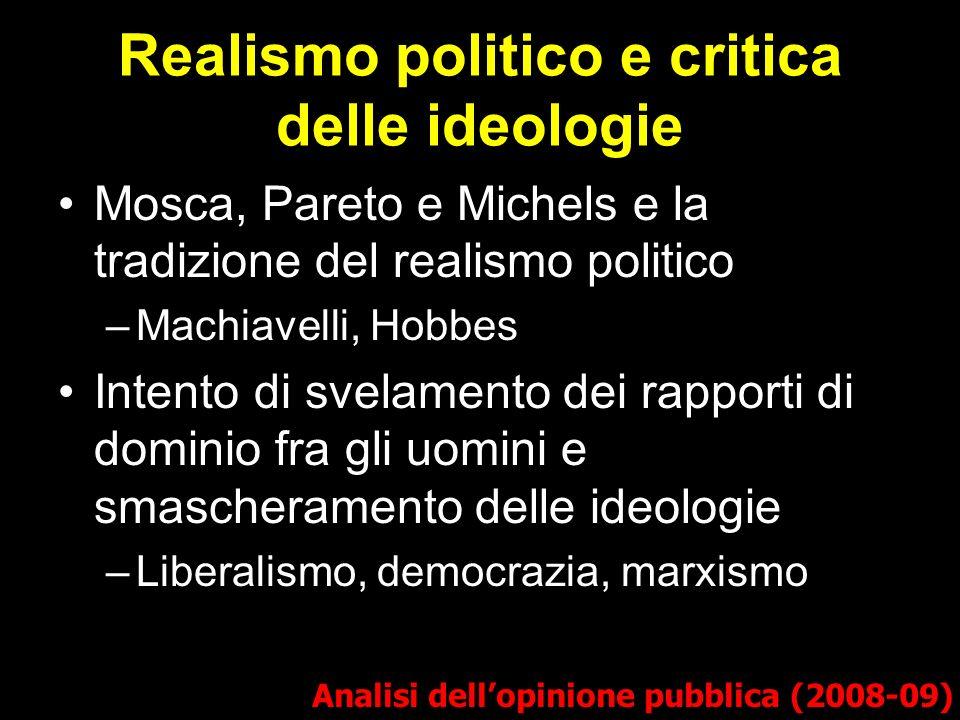 Realismo politico e critica delle ideologie