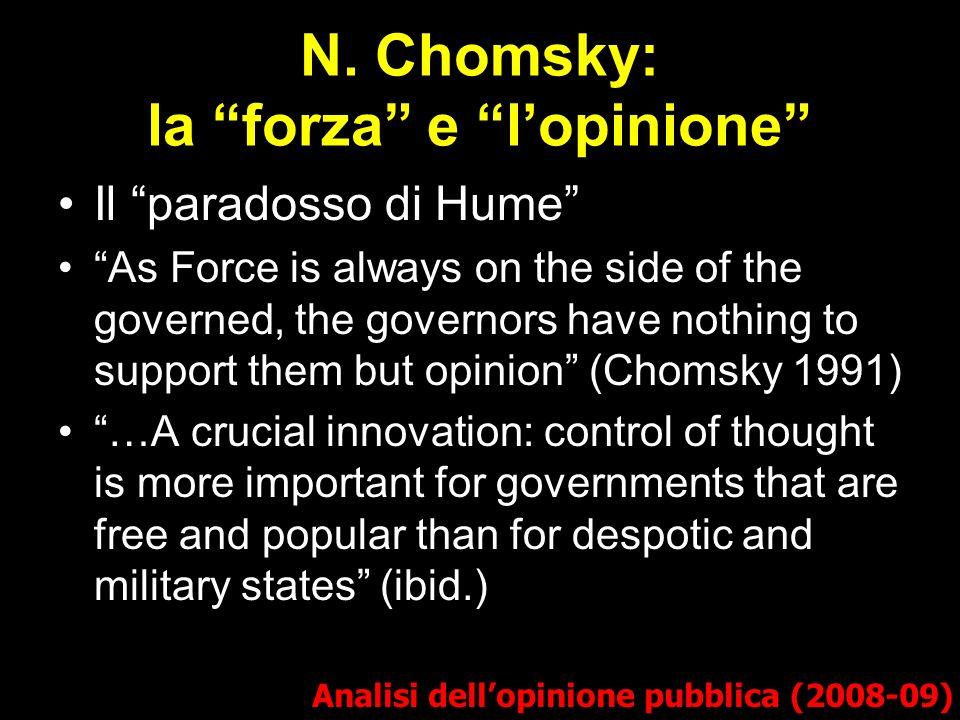 N. Chomsky: la forza e l'opinione