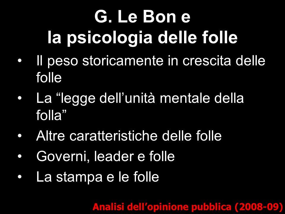 G. Le Bon e la psicologia delle folle
