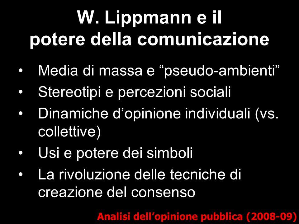 W. Lippmann e il potere della comunicazione