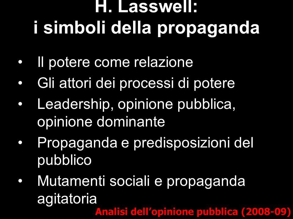 H. Lasswell: i simboli della propaganda