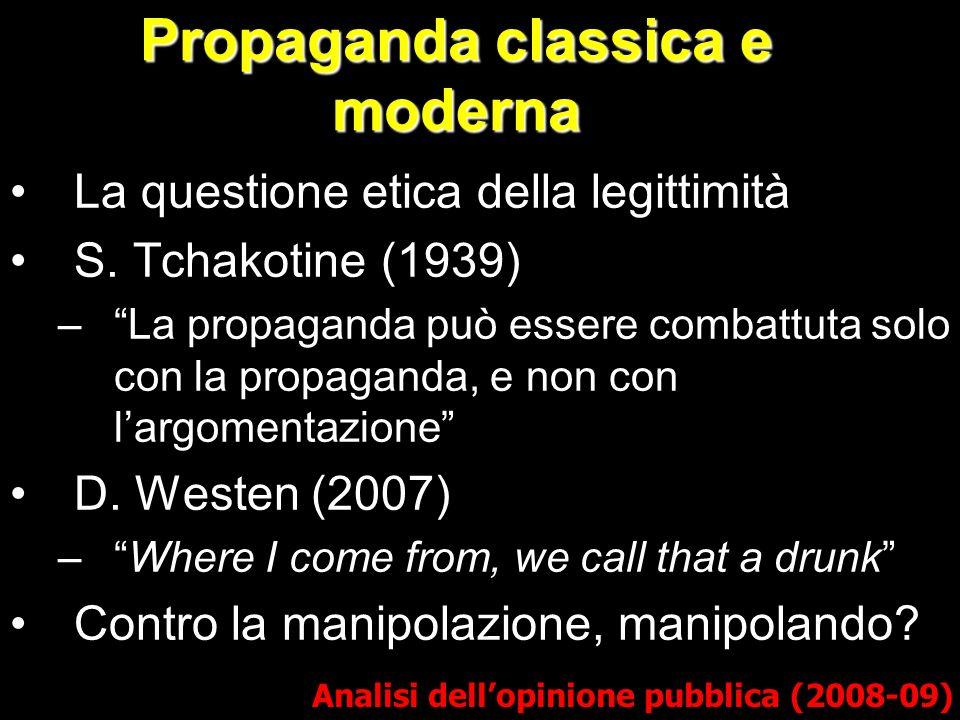 Propaganda classica e moderna