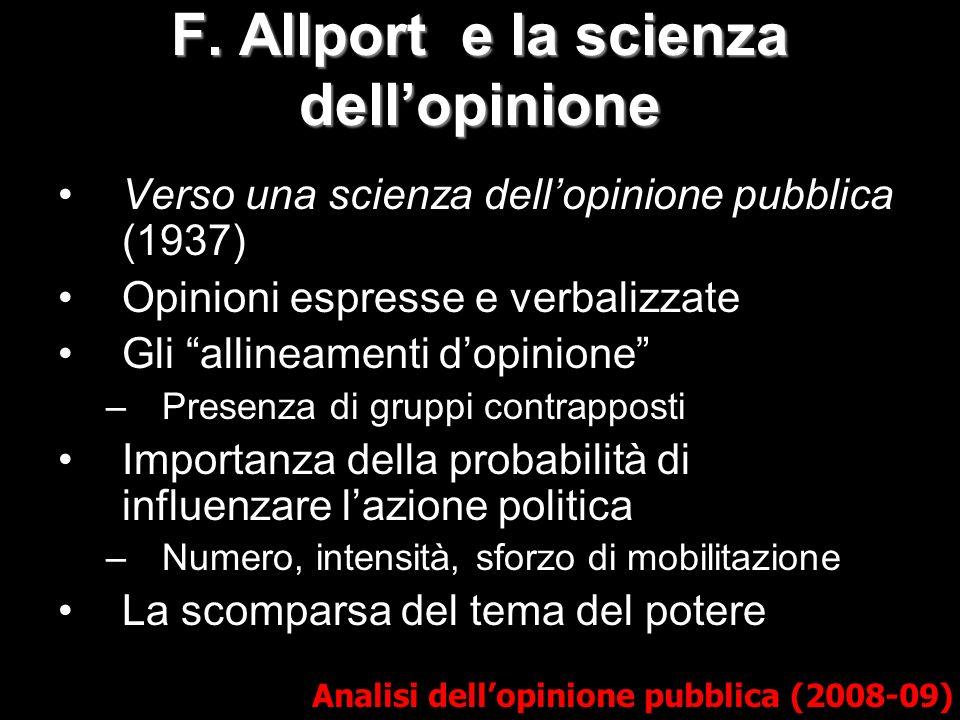 F. Allport e la scienza dell'opinione