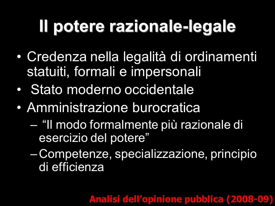 Il potere razionale-legale