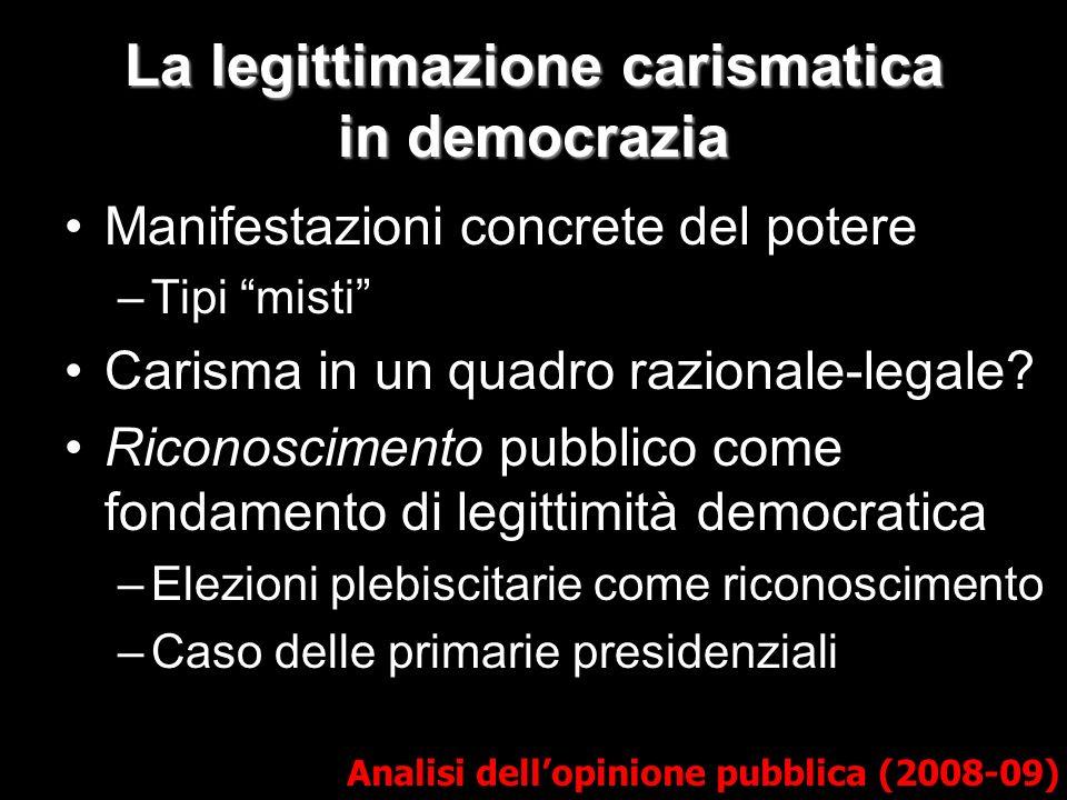 La legittimazione carismatica in democrazia