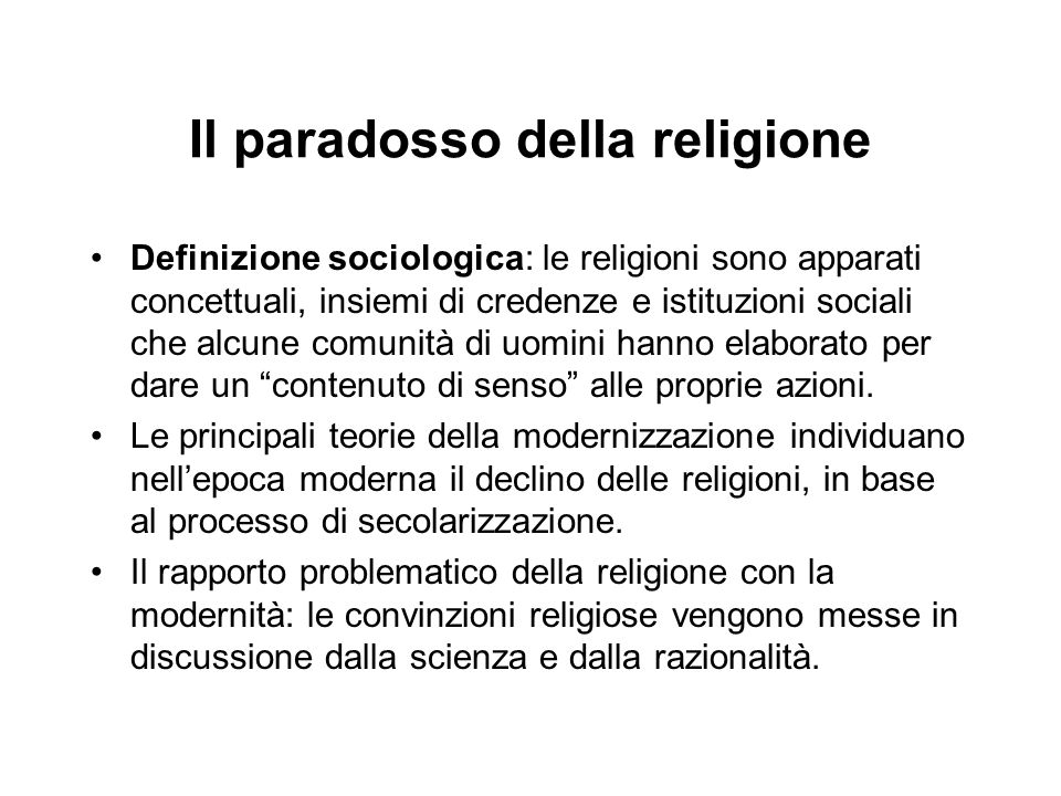 Il paradosso della religione