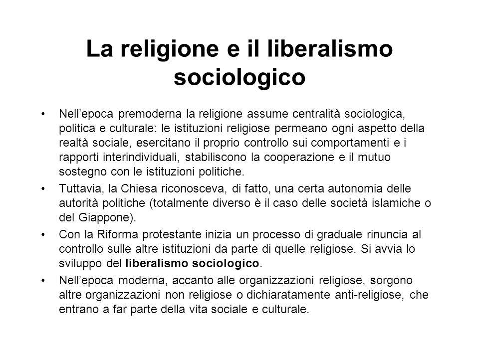 La religione e il liberalismo sociologico