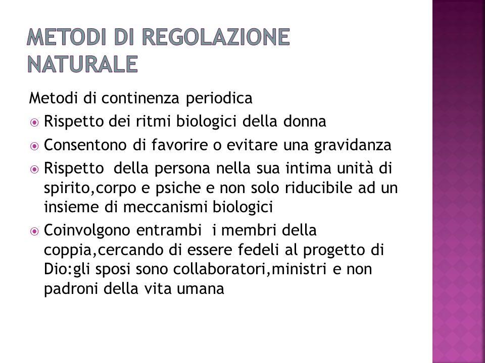 Metodi di regolazione naturale
