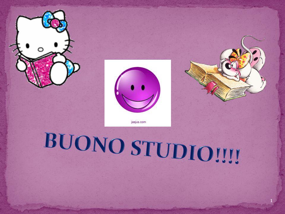 BUONO STUDIO!!!!