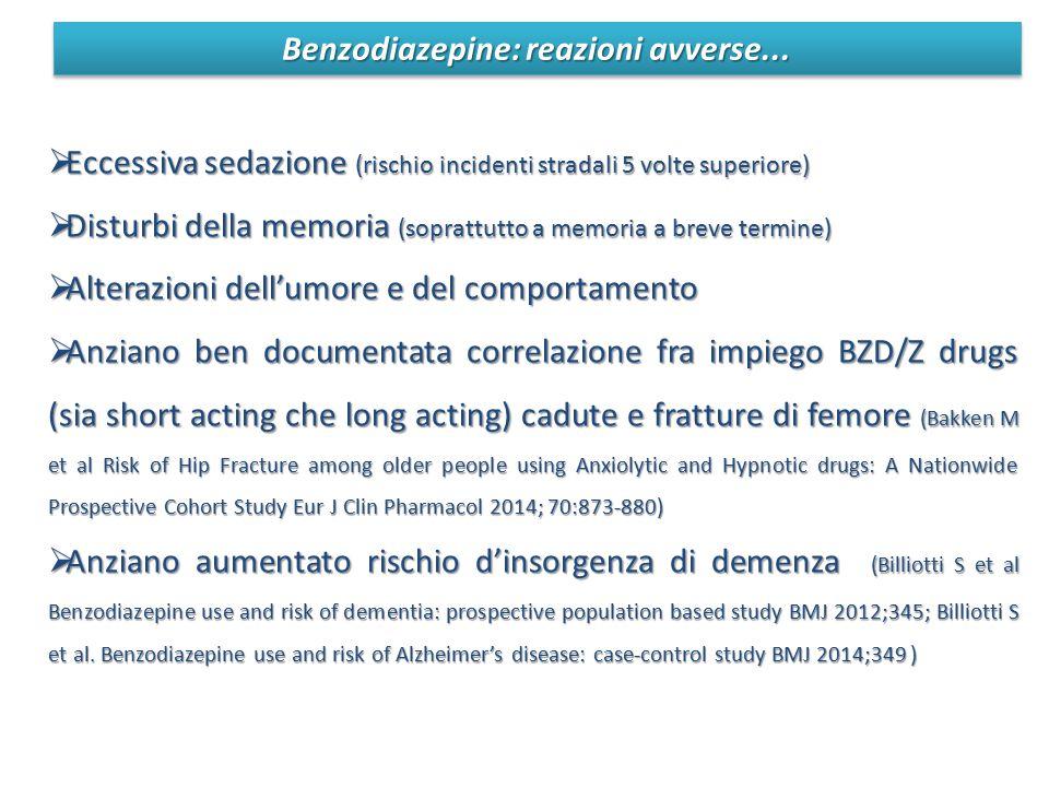 Benzodiazepine: reazioni avverse...