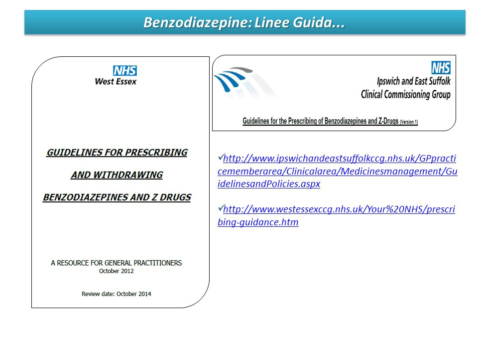 Benzodiazepine: Linee Guida...