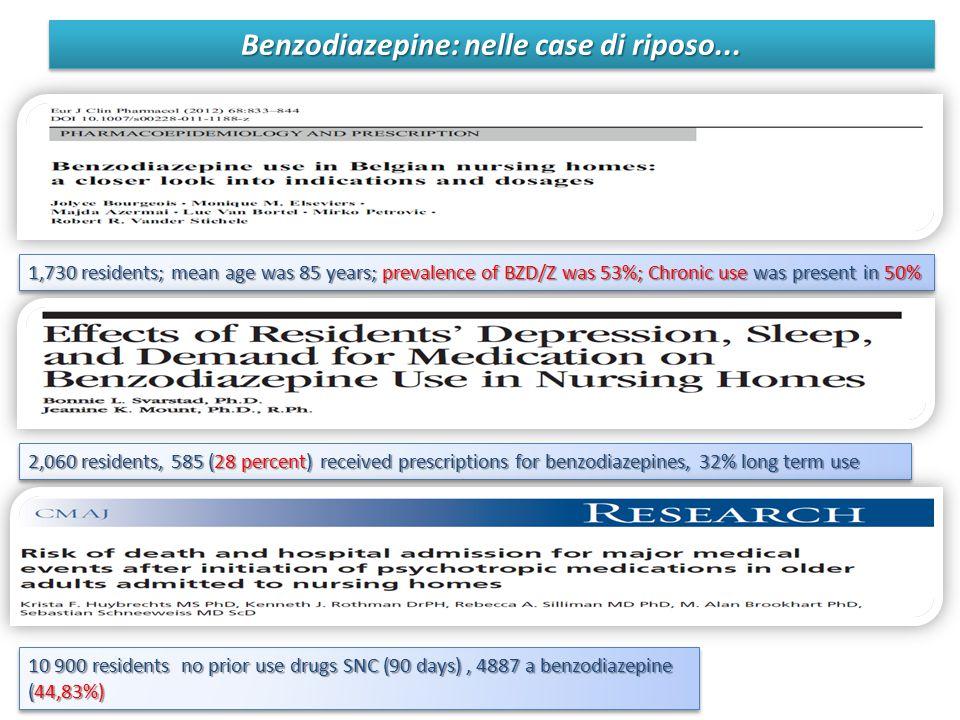 Benzodiazepine: nelle case di riposo...