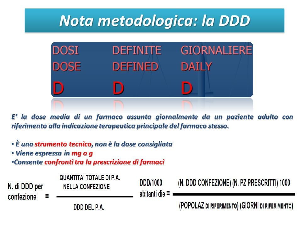 Nota metodologica: la DDD
