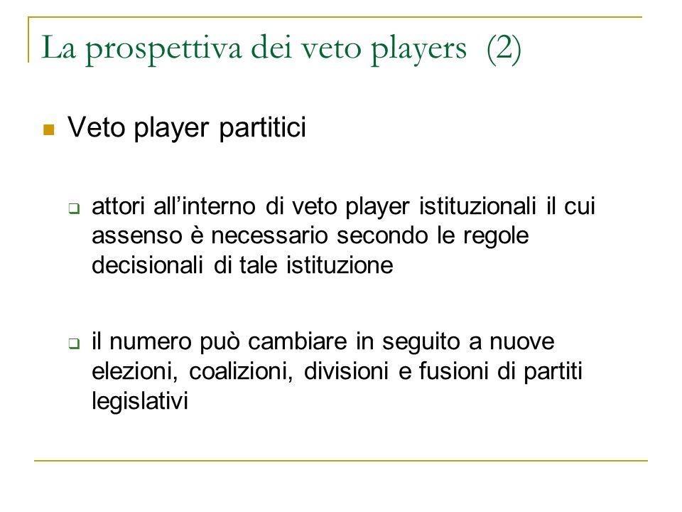 La prospettiva dei veto players (2)