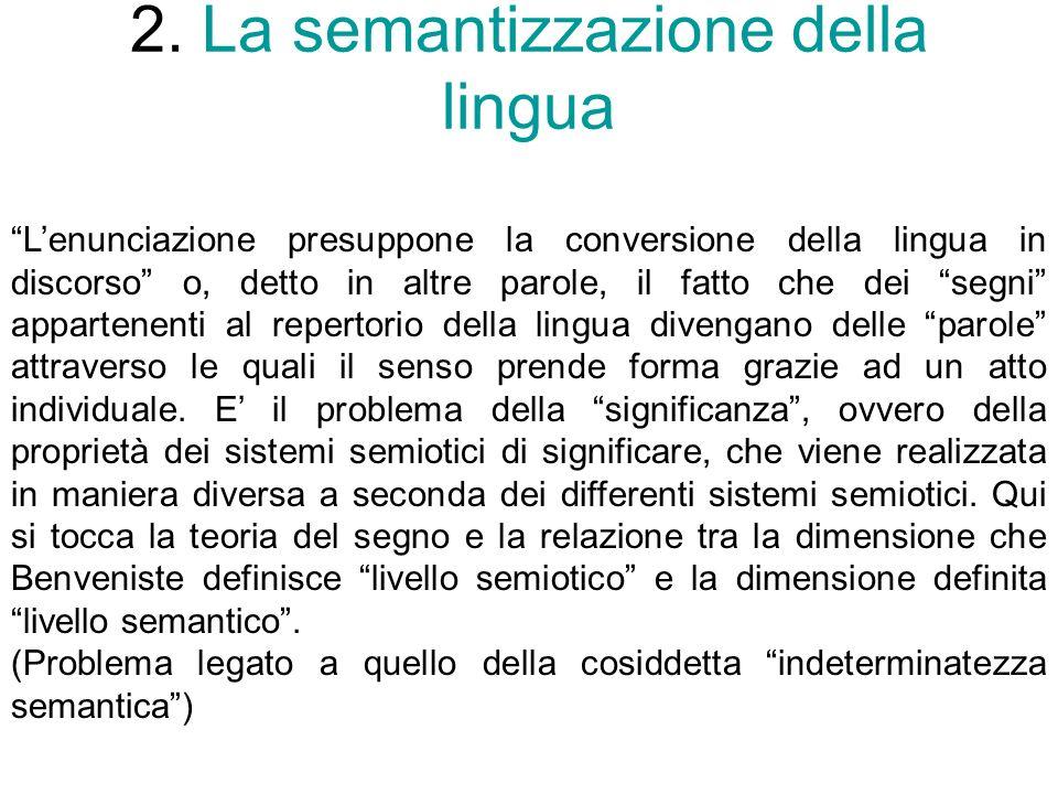 2. La semantizzazione della lingua