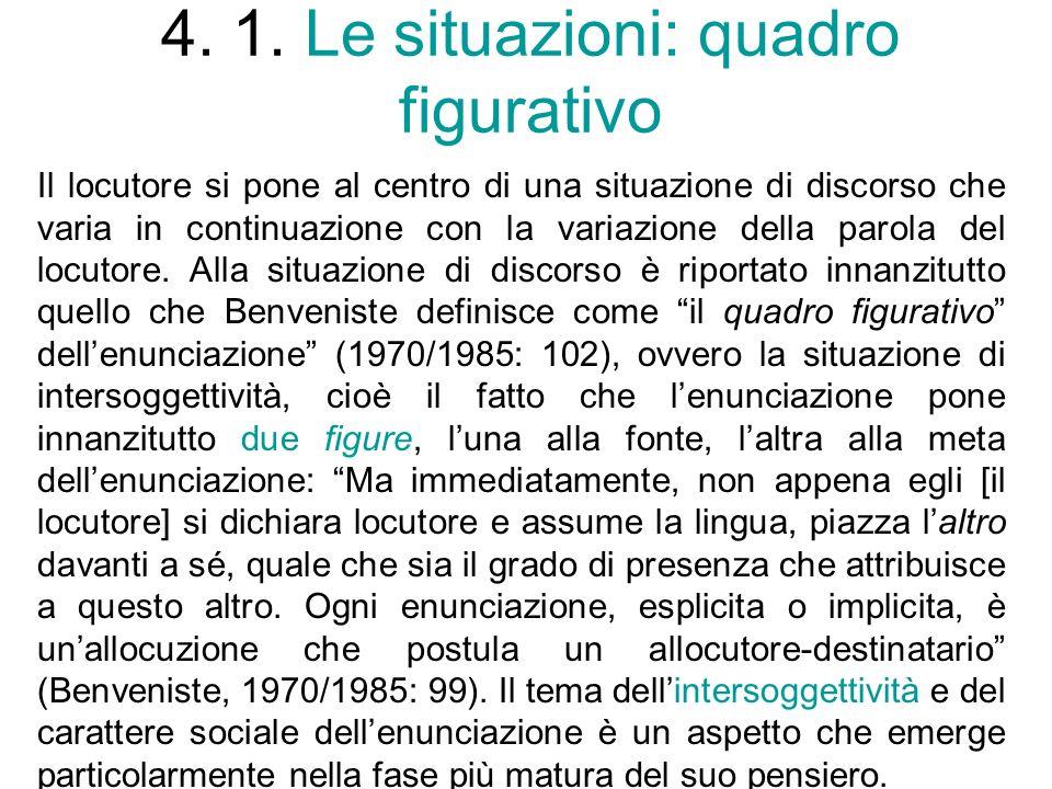 4. 1. Le situazioni: quadro figurativo