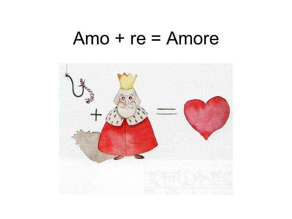 Amo + re = Amore