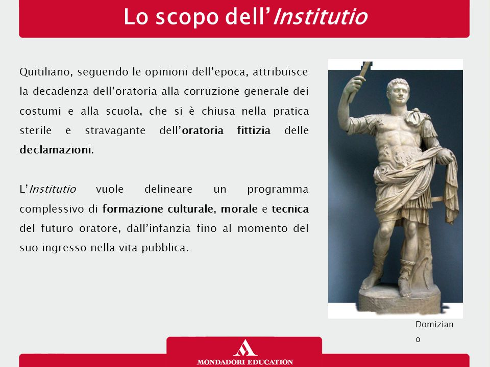 Lo scopo dell'Institutio