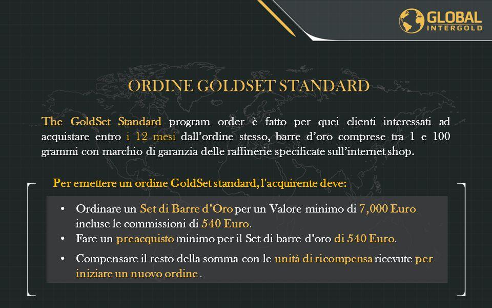 ORDINE GOLDSET STANDARD