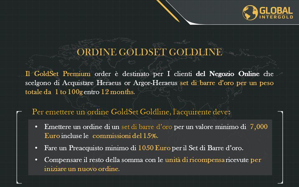 ORDINE GOLDSET GOLDLINE