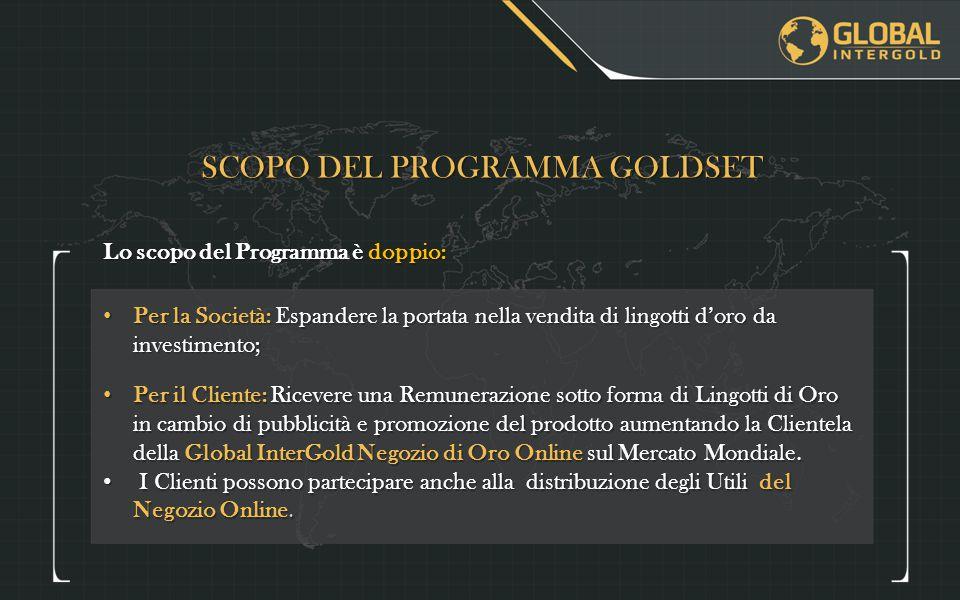 SCOPO DEL PROGRAMMA GOLDSET