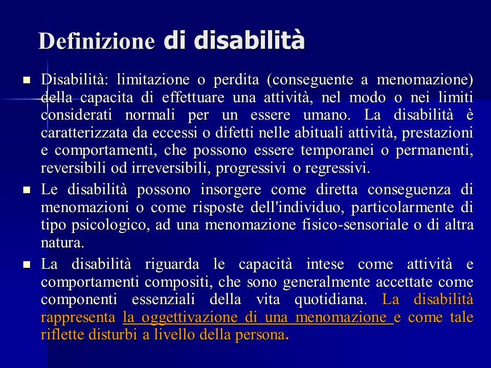 Definizione di disabilità