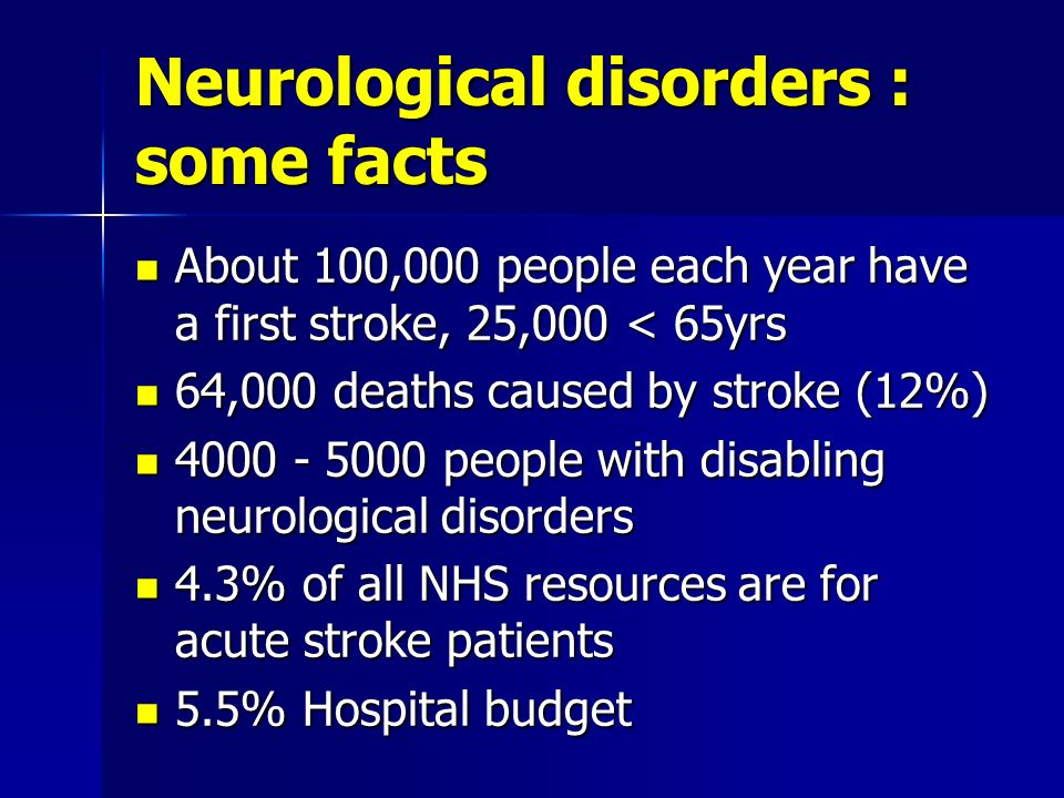 Neurological disorders : some facts