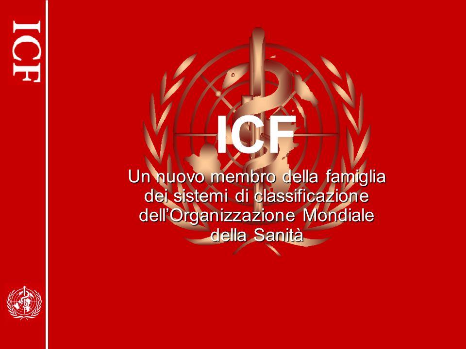ICF Un nuovo membro della famiglia dei sistemi di classificazione dell'Organizzazione Mondiale della Sanità.