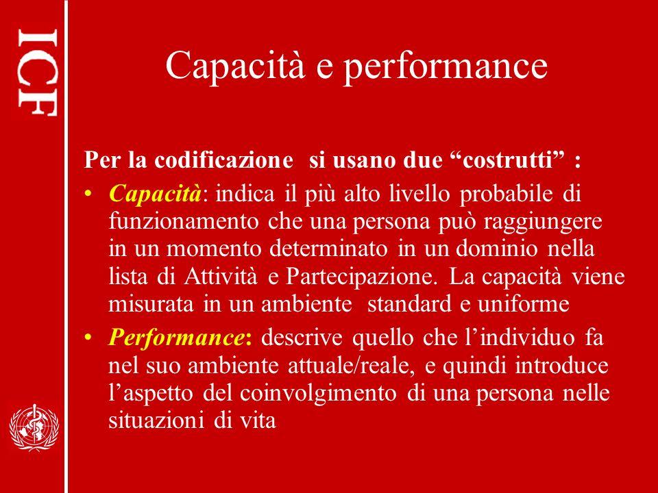 Capacità e performance