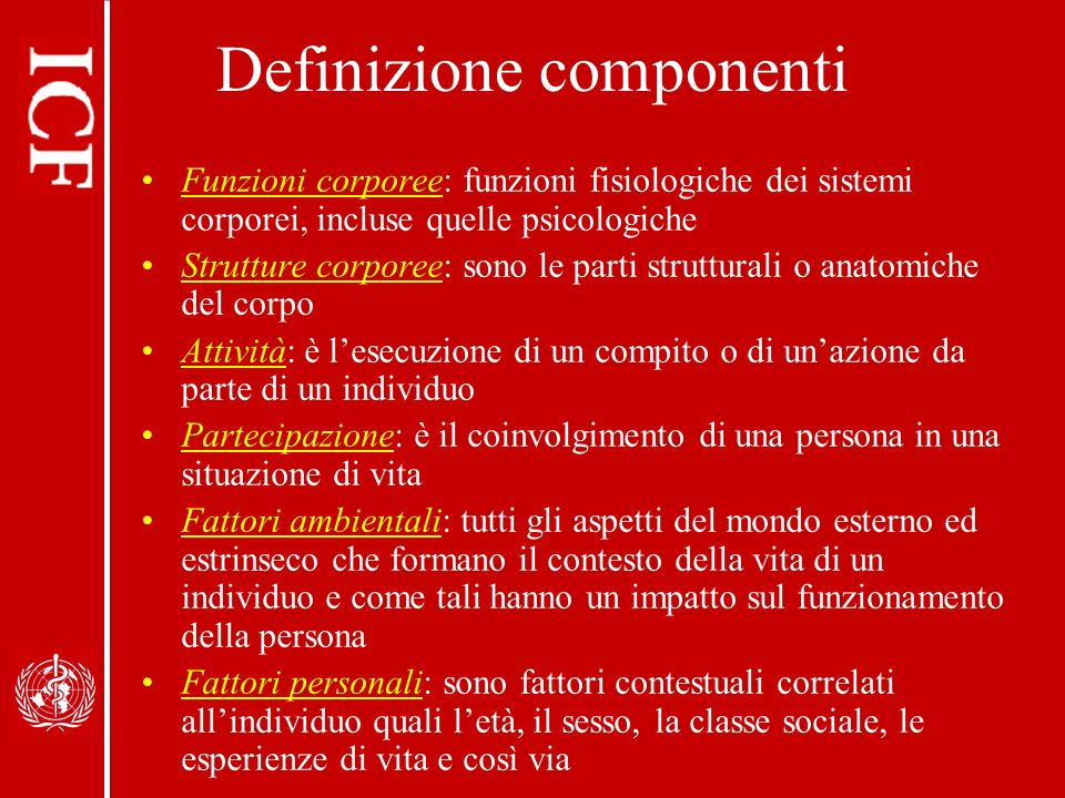 Definizione componenti