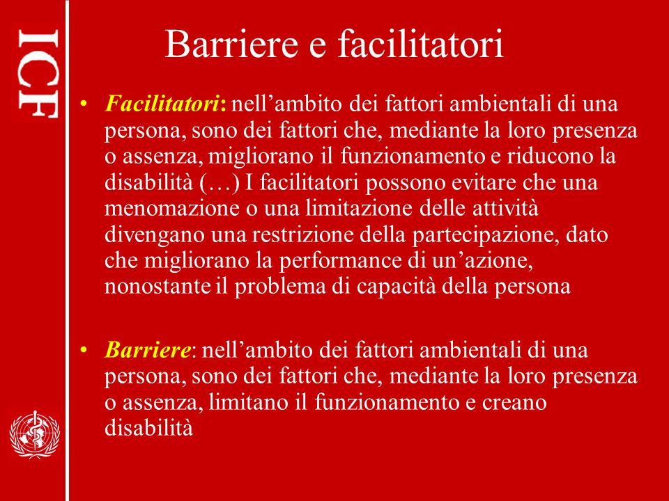 Barriere e facilitatori