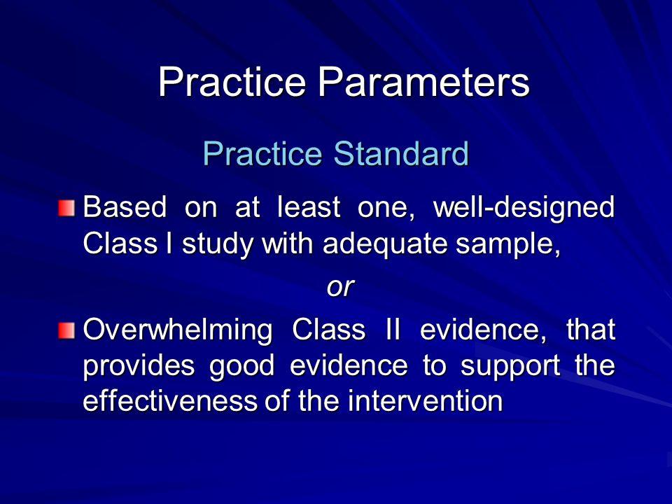 Practice Parameters Practice Standard