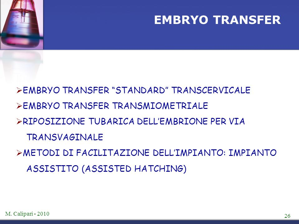 EMBRYO TRANSFER EMBRYO TRANSFER STANDARD TRANSCERVICALE