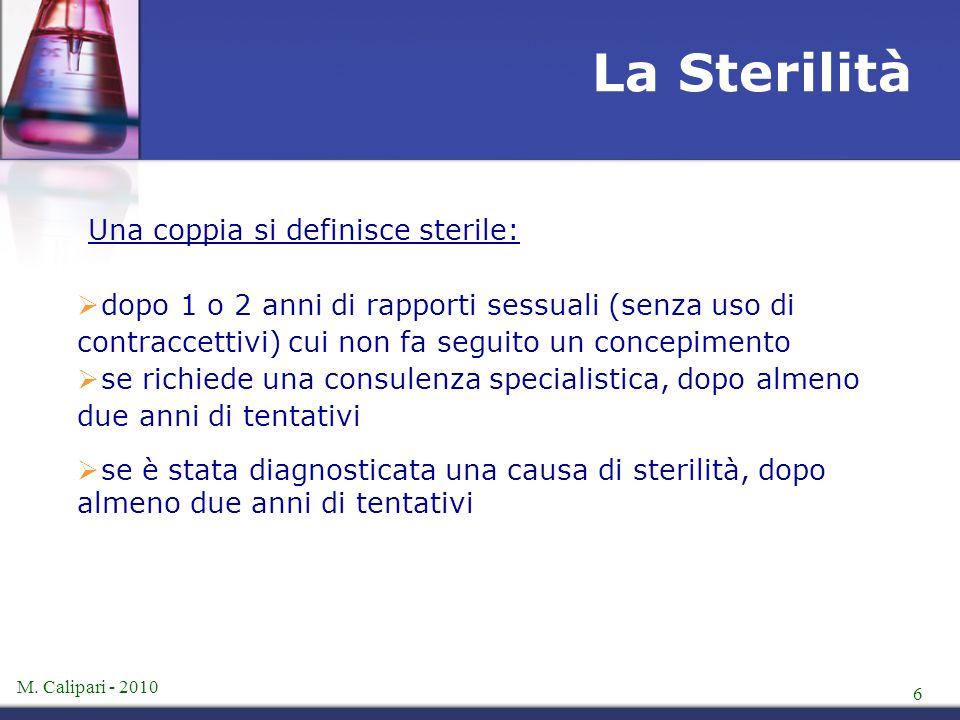 La Sterilità Una coppia si definisce sterile: